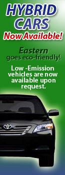 Eastern Car Service now goes eno-friendly with their introduction of hybrid cars to their fleet!